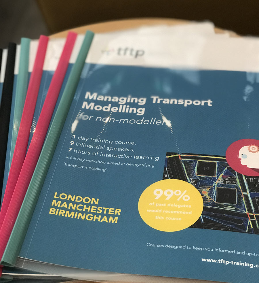 all transport modelling course delegates get a printed pack to take away