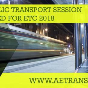 Local Public Transport Session Announced at ETC 2018