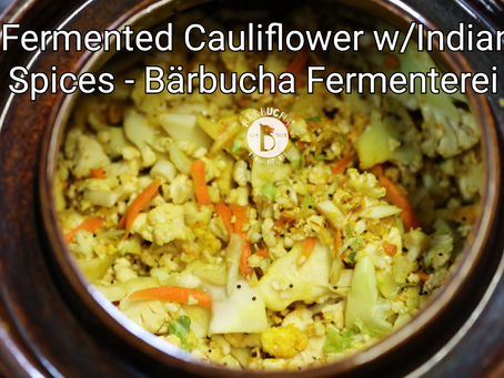 Lacto-fermented Cauliflower with Indian Spices