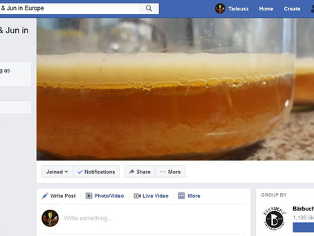 "Our Group on Facebook - ""Kombucha & Jun in Europe"""