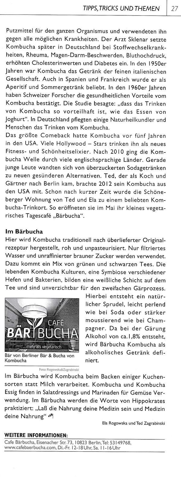 Bärbucha Kombucha in Kiez Schoeneberg