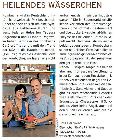 Bärbucha Kombucha in Ess Press Berlin