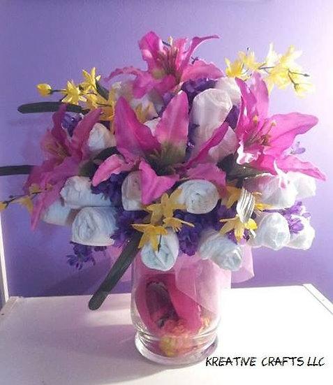 Baby Shower Diaper Bouquet