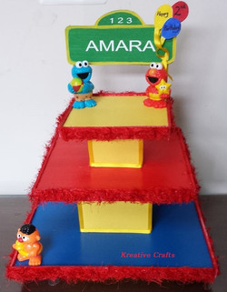 3 Tier Sesame Street cupcake -$50