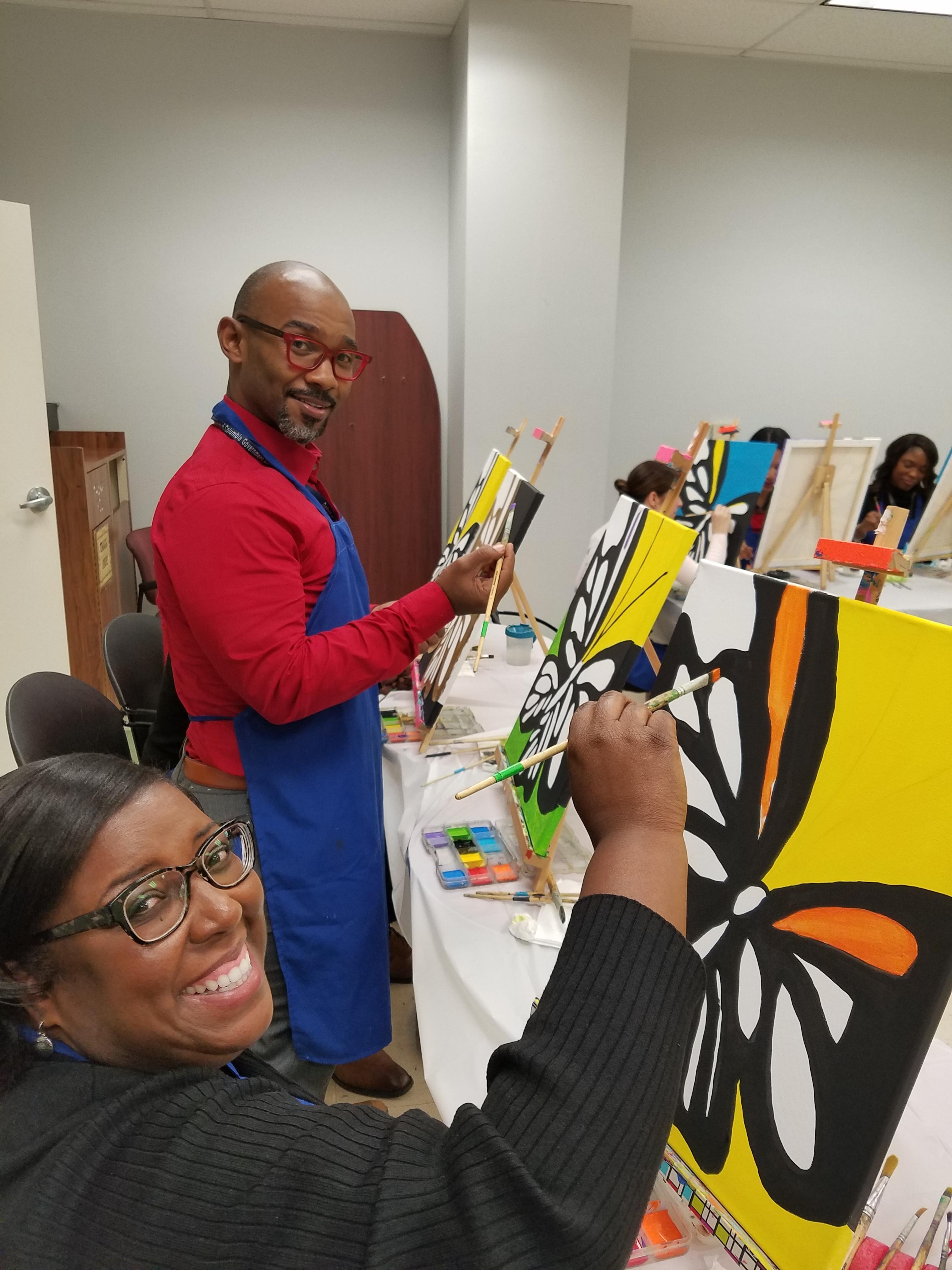 Adult Paint Party Register & Deposit