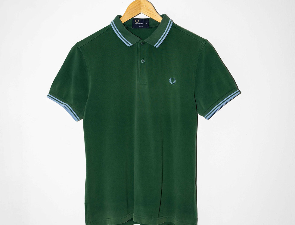 POLO VERDE OSCURO FRED PERRY