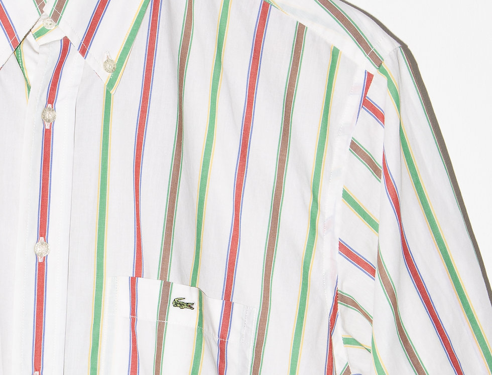 CAMISA LACOSTE RAYAS COLORES