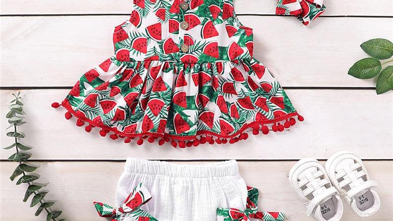 Watermelon Summer Three Piece Set