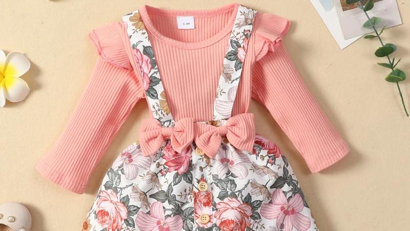 Rosa Floral Bow Dress & Headband Set