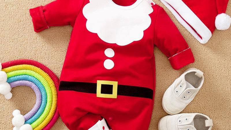 Little Santa Romper & Hat Set