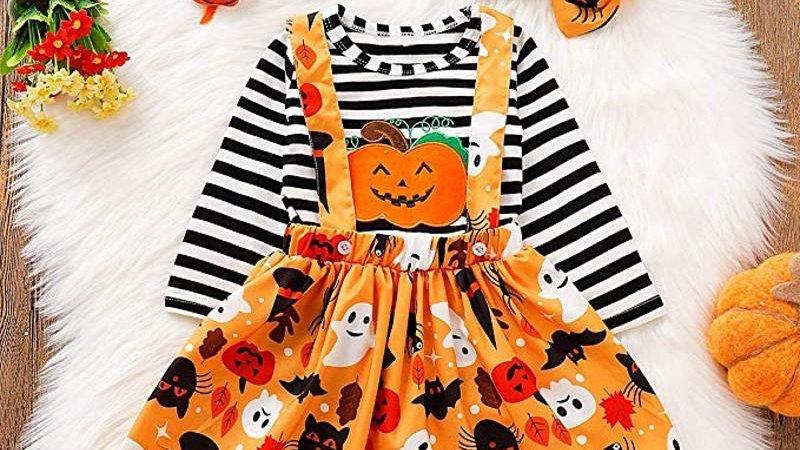 Halloween Dress, Top & Headband Set