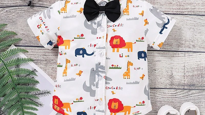 Animal Printed Bodysuit With Bow Tie