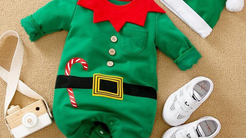 Little Elf Romper & Hat Set