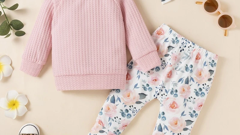 Knitted Jumper & Floral Trousers, Headband Set