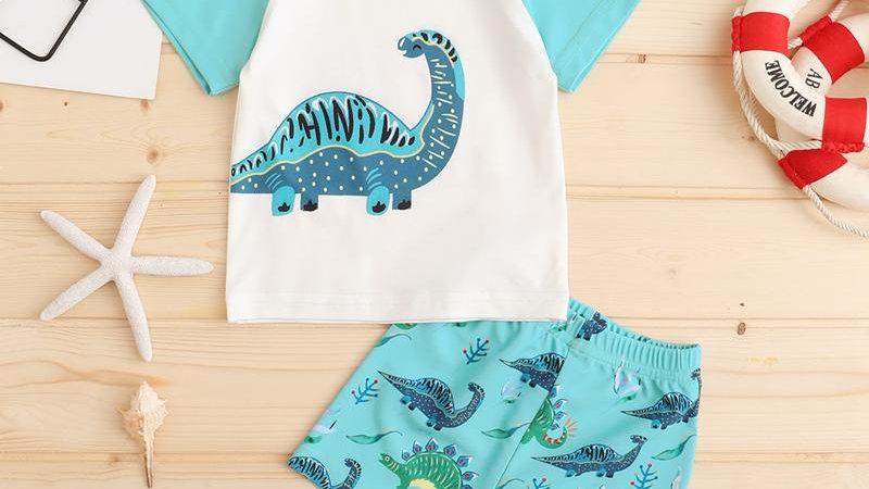 Summer Dinosaur T-Shirt & Shorts Set