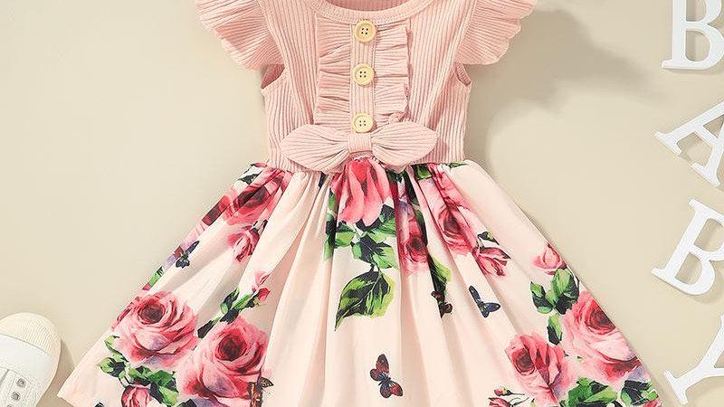 Pretty In Pink Rose Dress