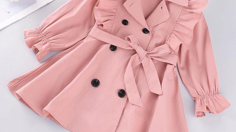 Pink Ruffle Coat