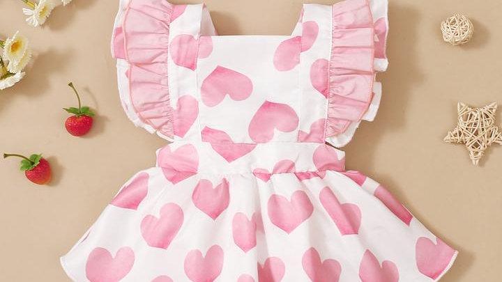 Hearts & Ruffle Dress & Headband Set