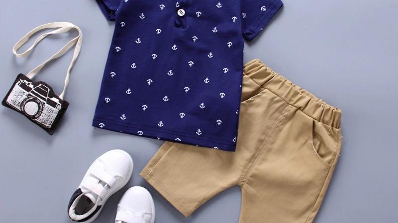 Anchor Detail T-Shirt & Shorts Set