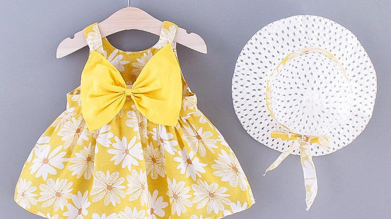 Daisy Summer Yellow Dress & Sun Hat