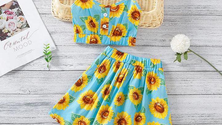 Sunflower Cami Top & Skirt Set