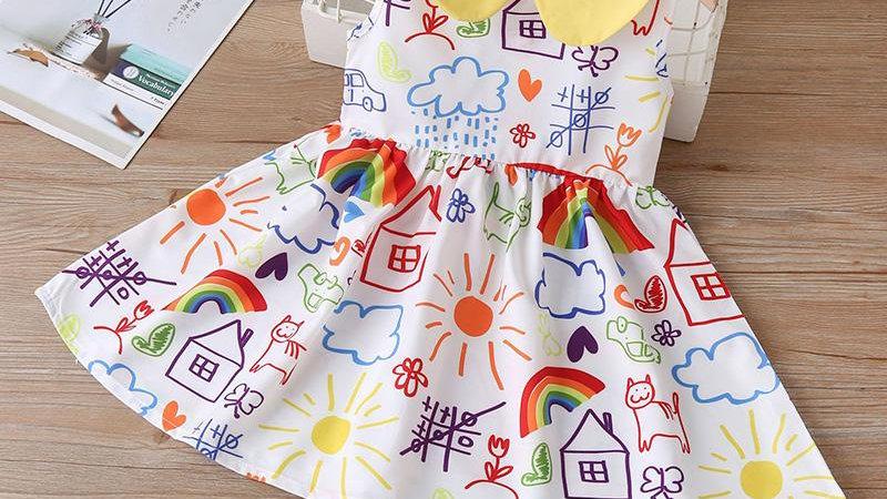 Rainbows & Art Skater Dress