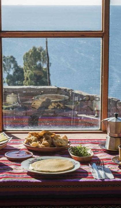Peru Responsabile Isla Taquile Lago Titicaca