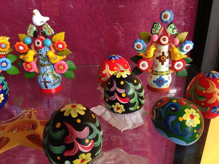 Nuovo Tris di Uova decorative