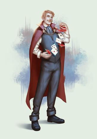 Armond, half-elf sorcerer