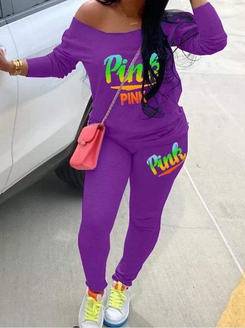 PINK Pants Set