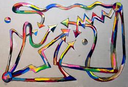 포획된 상념을 위로하는 포획자 162.2*112.1cm oil on canvas 2015.jpg