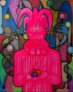 공던지기 광대 40F acrylic, oil and oil pastel