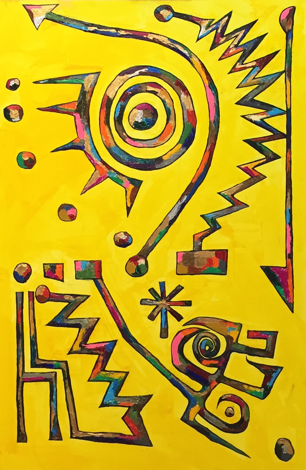 노예의 꿈 study of Kandinsky with indicators 116.8*72.7cm oil on canvas 2015 복사본.jpg