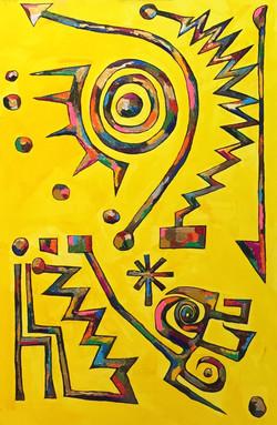 노예의 꿈 study of Kandinsky with indicators 116.8*72.7cm oil on canvas 2015 복사본.jpg