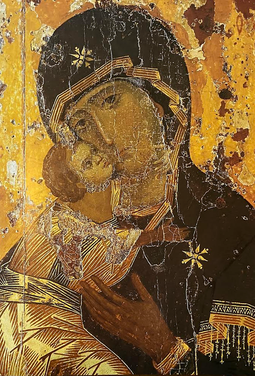 The Virgin of Vladimir 12th C Constantinople - Tretchiakov.tif