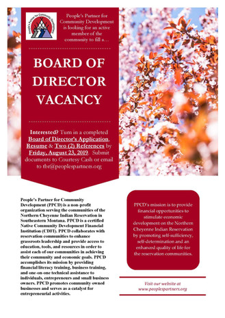 Board of Director's Vacancy