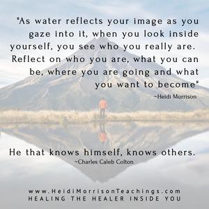 reflection#water#inside#above#bellow#universe#reflect#heidimorrisonteaching#healingthehealerinsideyou#become#awareness#selflove#love.