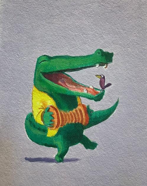 Crocodile with Accordian