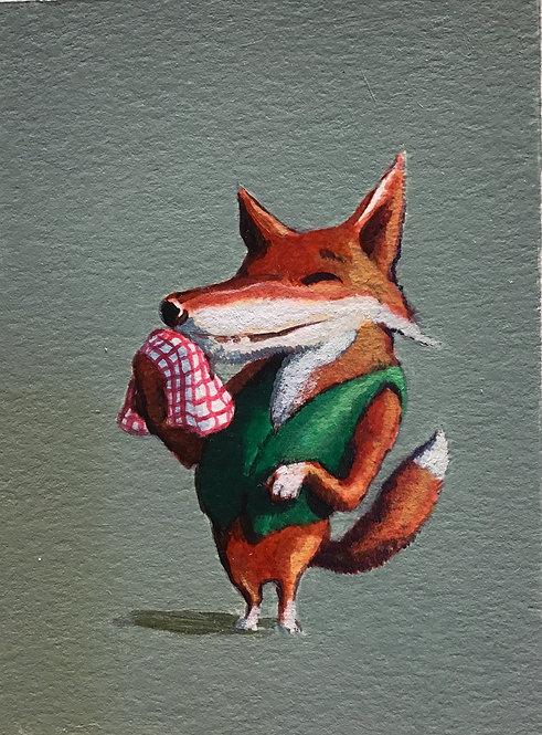 Fox with Napkin