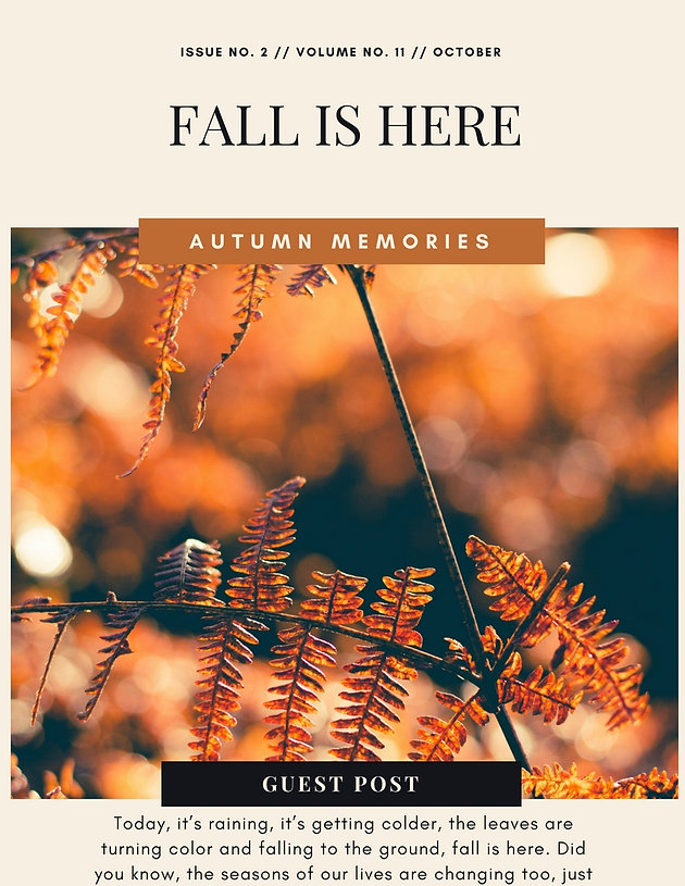 Guest Post: Fall is Here!