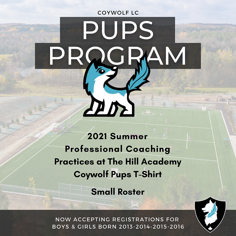 Coywolf Pups Lacrosse Program (2013-14-15-16) $225