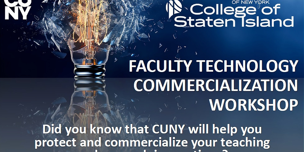 Faculty Technology Commercialization Workshop