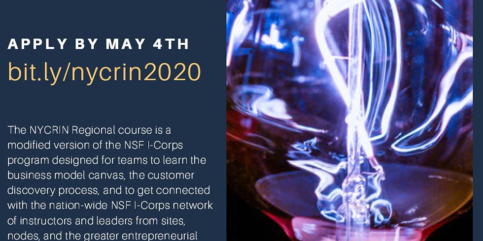 Spring 2020 NYCRIN Virtual Regional I-Corps