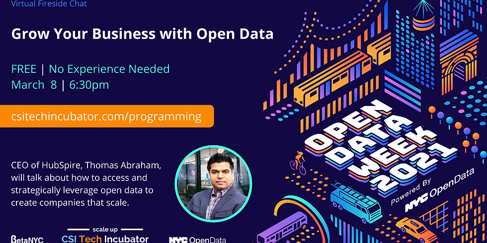 Grow Your Business with Open Data | NYC Open Data Week