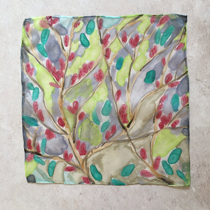 Willow Sprig Silk Square