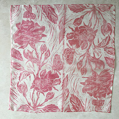 Bees and Roses Silk Sqaure