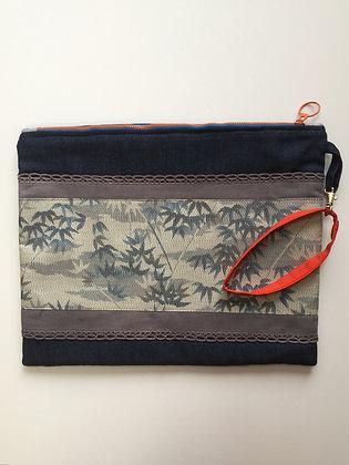 Bamboo Blue ipad Bag