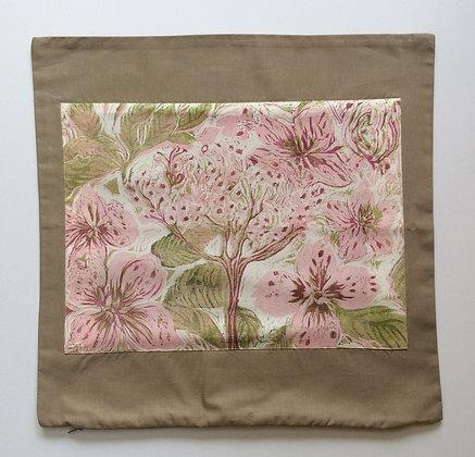 Taupe Hydrangea Cushion Cover