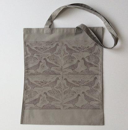 Grey Pigeon Print Tote Bag