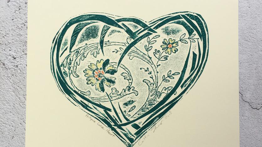 Antique Floral Heart